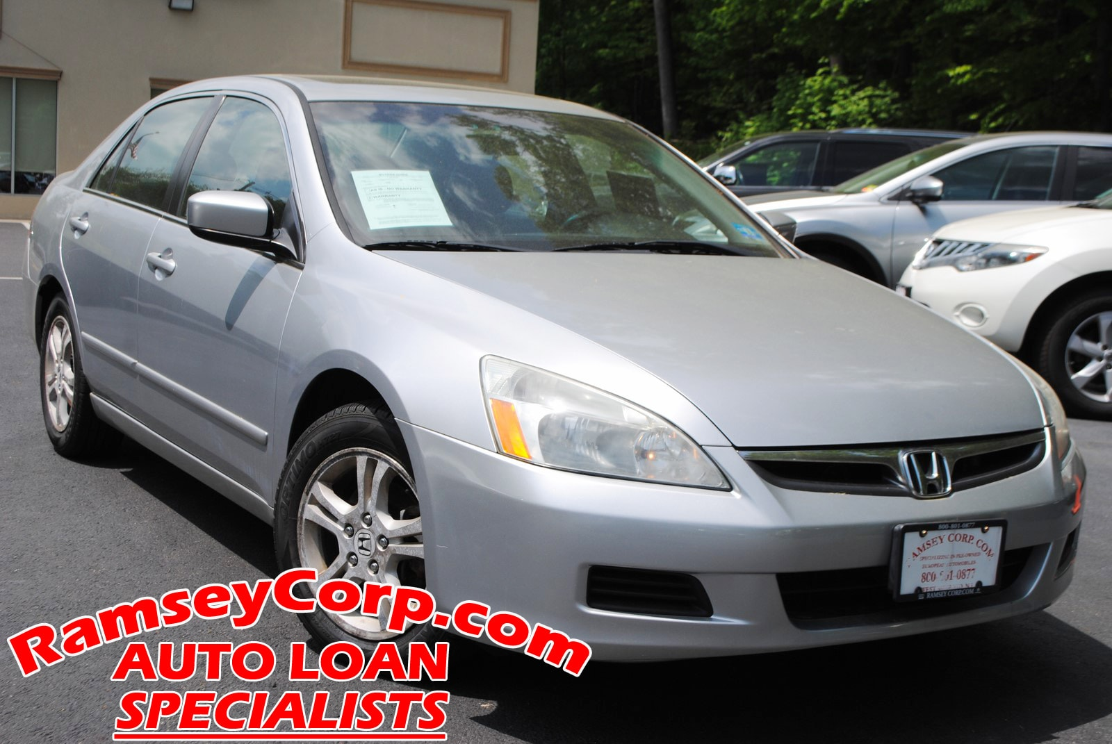for 2003 2007 Honda Accord Sedan FT Front Bumper Reinforcement 4Cyl//6Cyl Steel