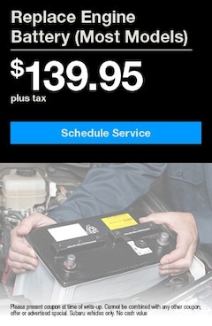 Replace Engine Battery $139.95