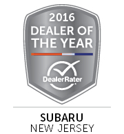 DealerRater 2016 NJ Subaru Dealer of the Year