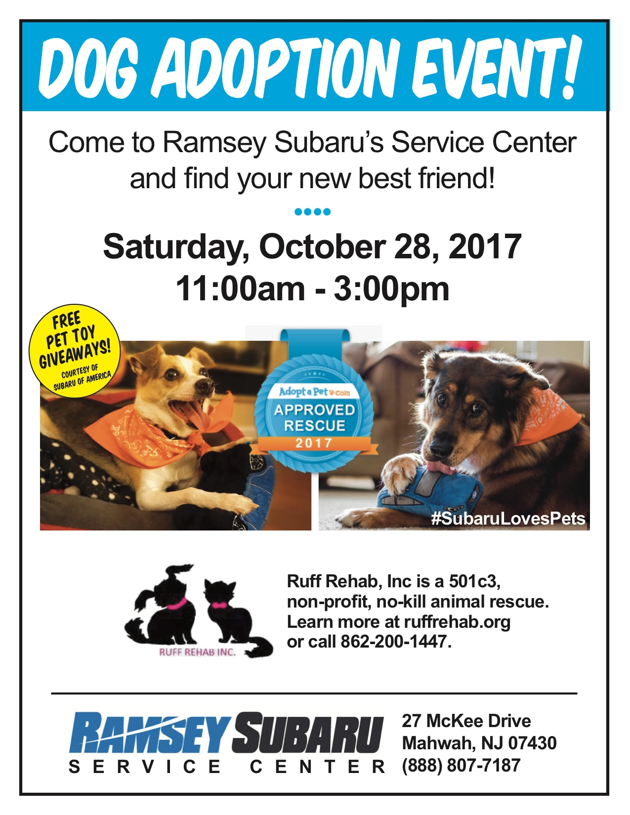 Ruff Rehab Dog Adoption Event NJ