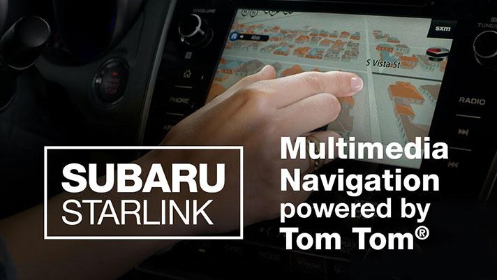 Subaru Starlink Navigation System