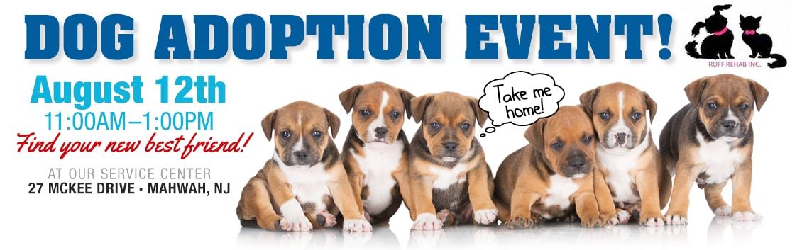 Ruff Rehab Dog Adoption Event Mahwah NJ