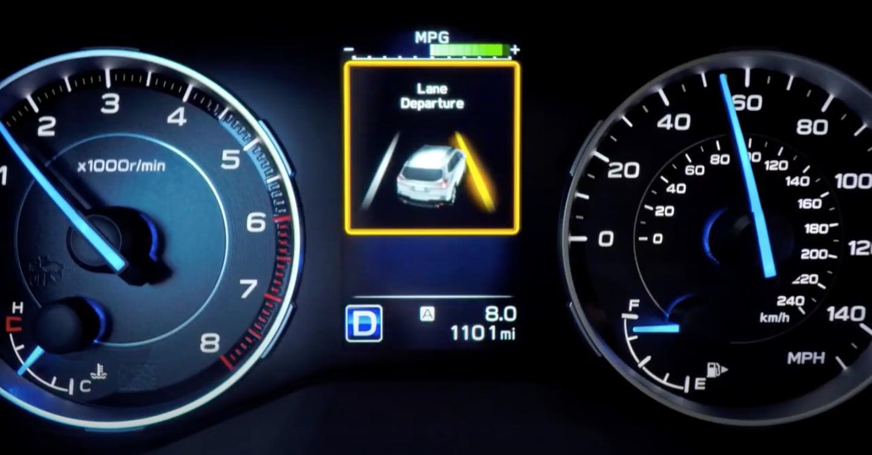Subaru Lane Departure and Sway Warning