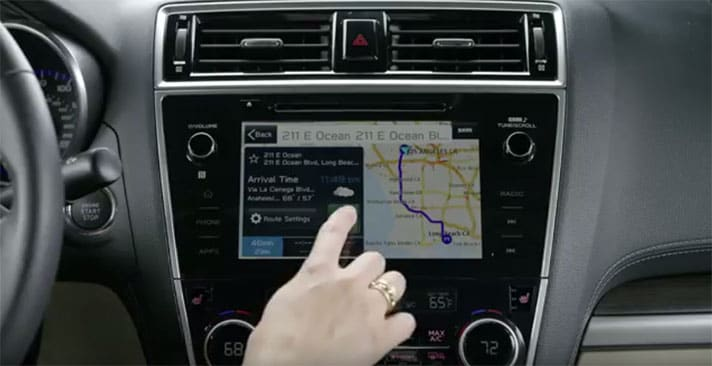 Subaru Navigation System Video