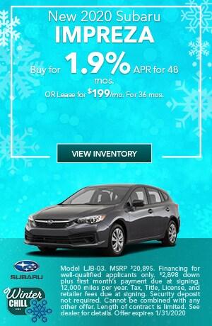 January New 2020 Subaru Impreza Offers