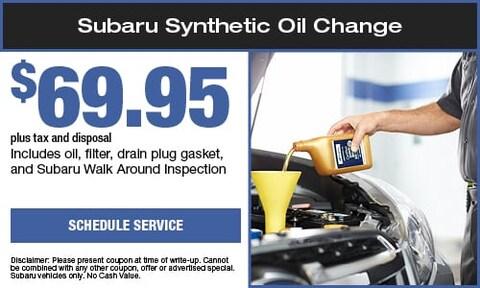 Subaru Synthetic Oil Change