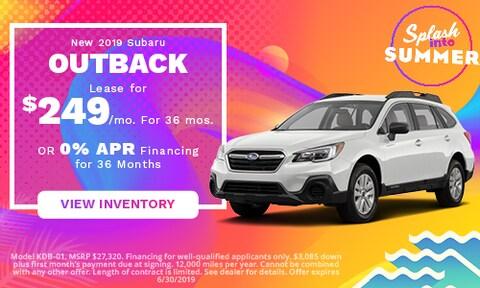 June 2019 Subaru Outback Lease