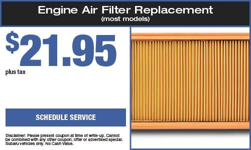 Engine Air Filter Replacement (most models)