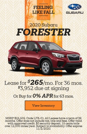 October 2020 Subaru Forester Offers
