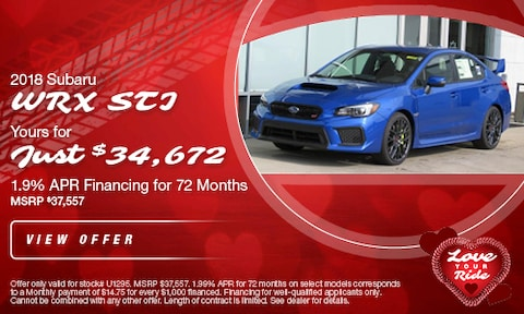 Pre-Owned '18 WRX Offer