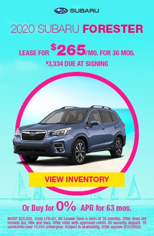 August 2020 Subaru Forester Offers