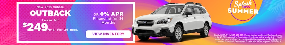 June 2019 Subaru Outback Lease