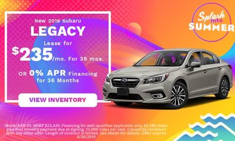 June 2019 Subaru Legacy Lease