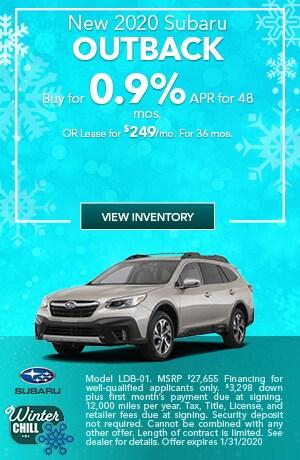 January New 2020 Subaru Outback Offers