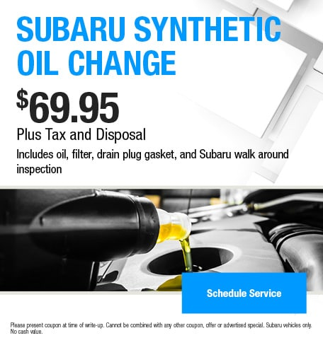 Subaru Synthetic Oil Change Offer