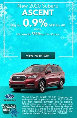 January New 2020 Subaru Ascent Offers