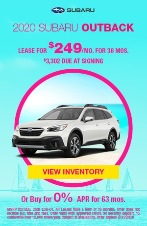 August 2020 Subaru Outback Offers