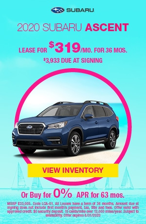 August 2020 Subaru Ascent Offers