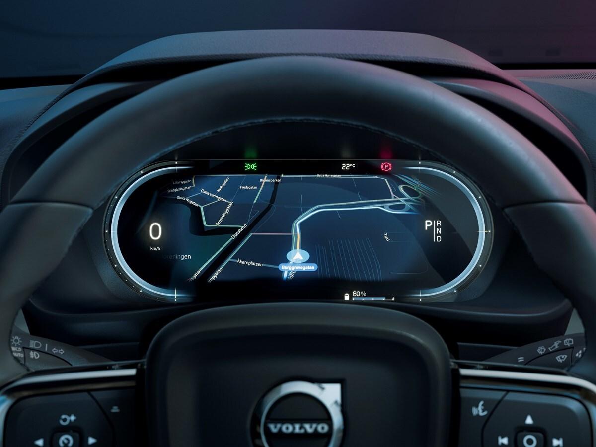 Volvo C40 Recharge Navigation System