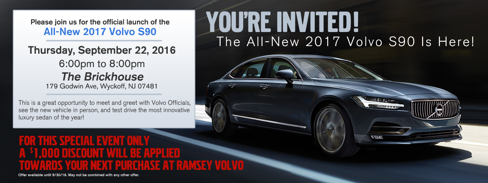 Ramsey Volvo S90 Launch Event