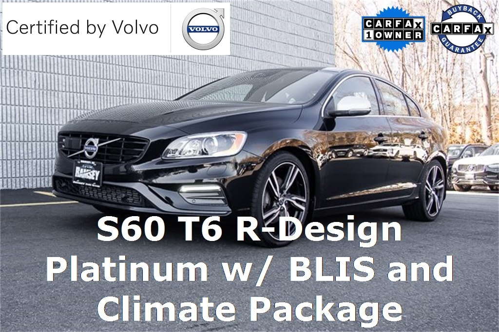 2017 Volvo S60 T6 AWD R-Design Platinum Sedan
