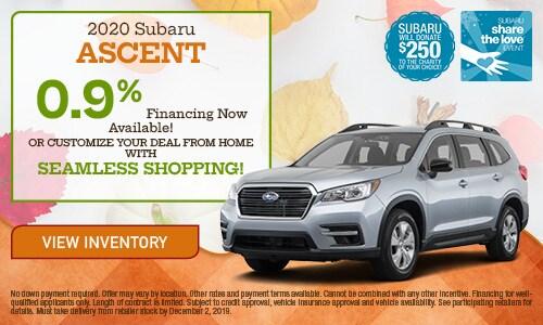 2020 Subaru Ascent Financing