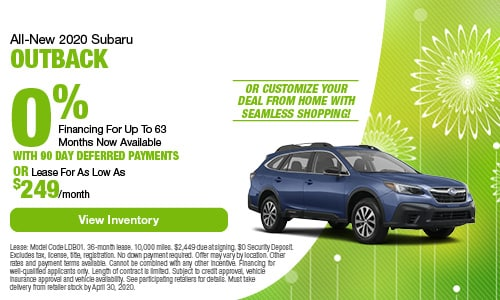 All-New 2020 Subaru Outback