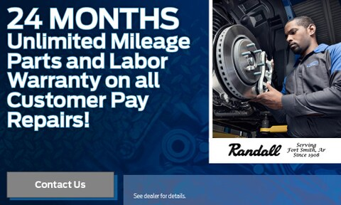 24 Months Unlimited Mileage Parts and Labor on all Customer Pay Repairs!