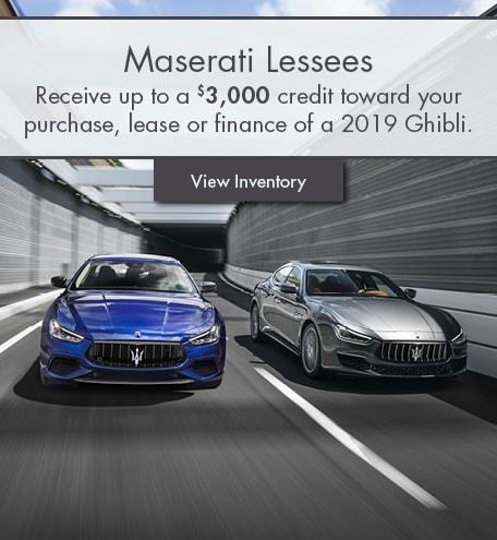 new jersey maserati lease & finance specials | new ghilbli