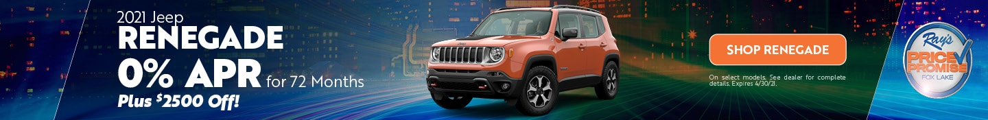 2021 Jeep Renegade- April Offer