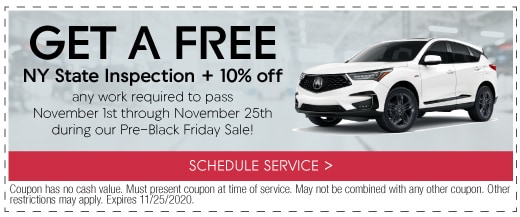 Get a FREE NY State Inspection + 10% off