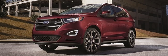 Ford Edge In Burgundy Velvet