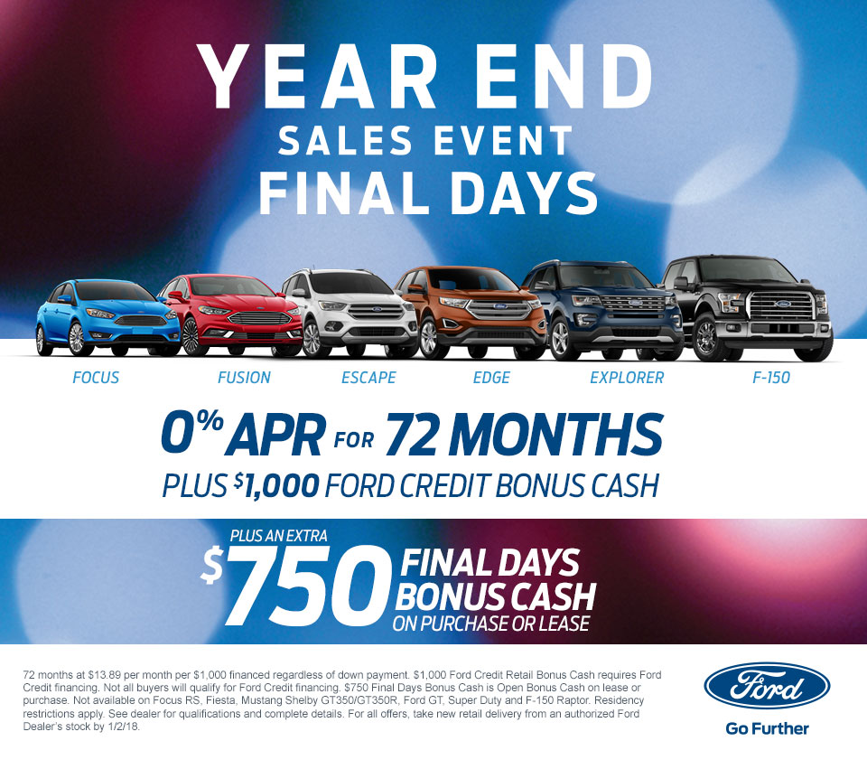 Ford Year End Sales Event Final Days At Ray Price Ford