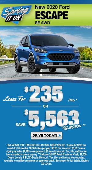Slide - New 2020 Ford Escape SE