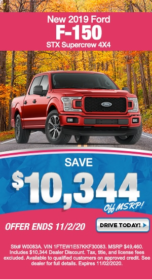 New Special - New 2019 Ford F-150 STX Supercrew