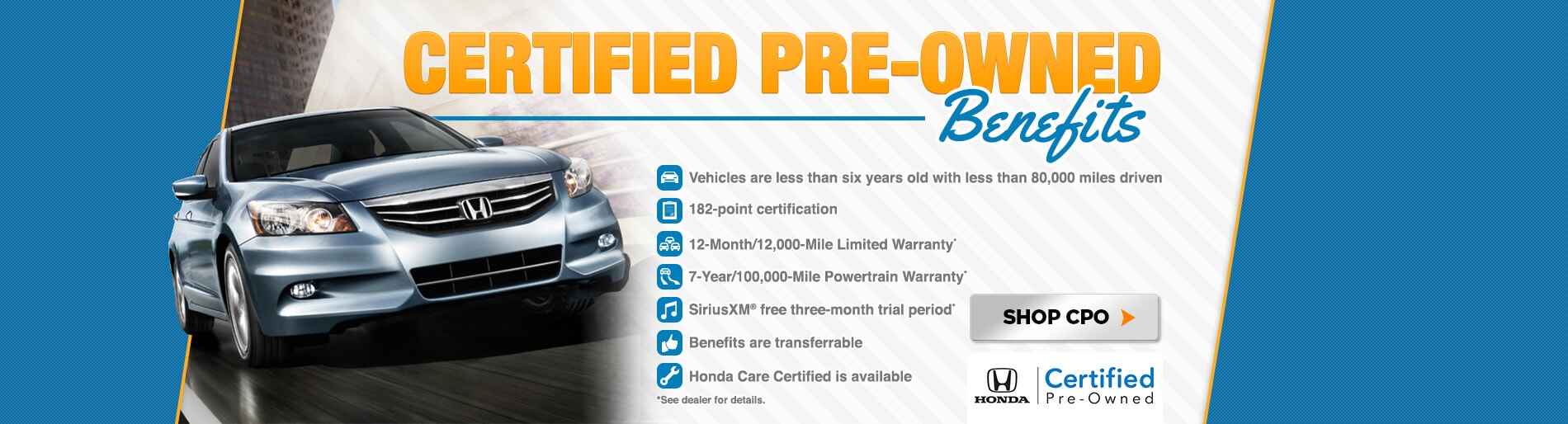 Certified Pre Owned Honda Benefits