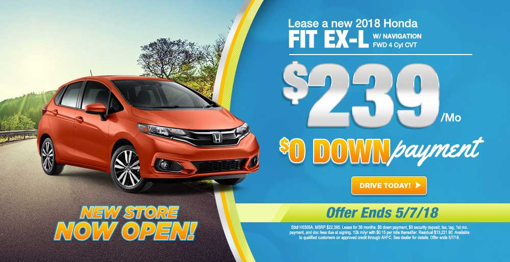 Lease A 2018 Honda Fit Fwd 4 Cyl Cvt For 239 Mo At Ray Price Honda