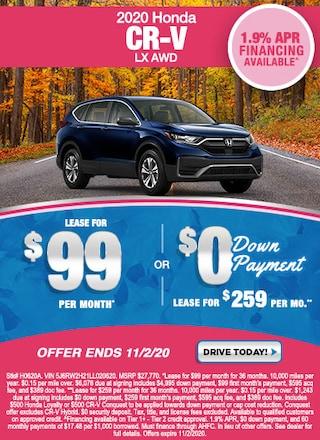 New Special - 2020 Honda CR-V LX