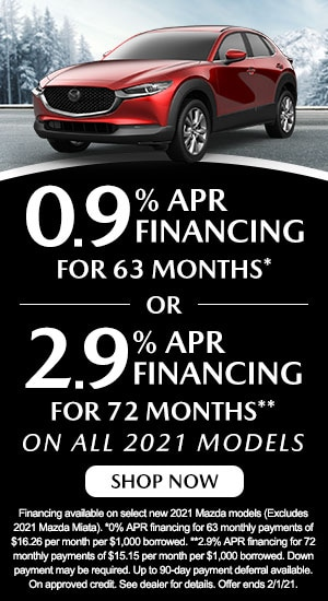 0.9% APR Financing for 63 months