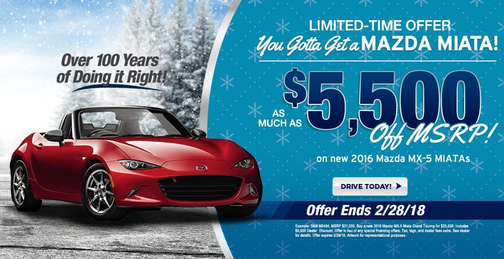 Buy A New 2016 Mazda Miata And Save At Ray Price Mazda   Stroudsburg, PA