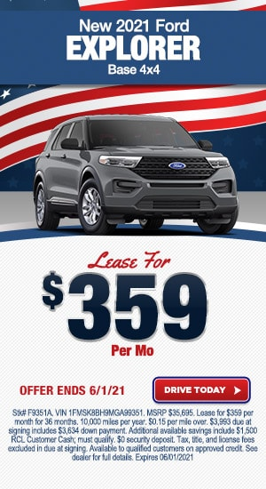 New 2021 Ford Explorer Base 4x4