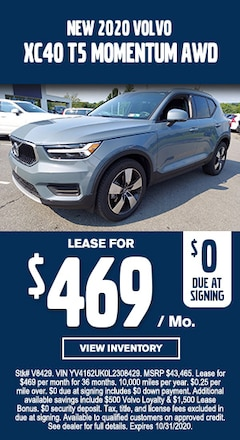 New Special - New 2020 Volvo XC40 MOMENTUM AWD