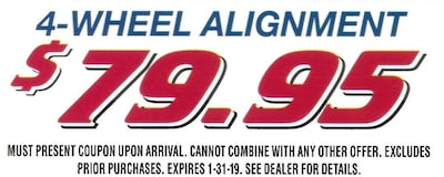 Get your 4-Wheel Alignment today!