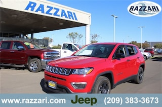 New 2019 Jeep Compass SPORT FWD Sport Utility 3C4NJCAB2KT638731 For Sale in Merced, CA