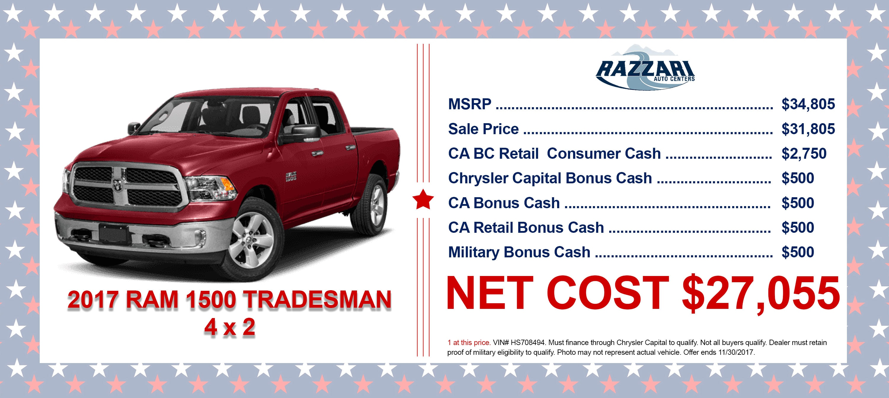 Razzari Chrysler Dodge Jeep Ram New Chrysler Dodge Jeep Ram - Chrysler capital bonus cash