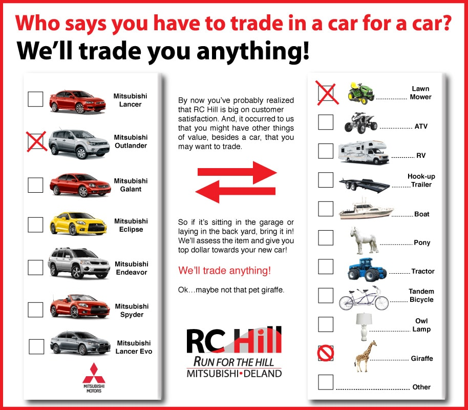 RC Hill Mitsubishi Will Trade In Anything, Deland, FL