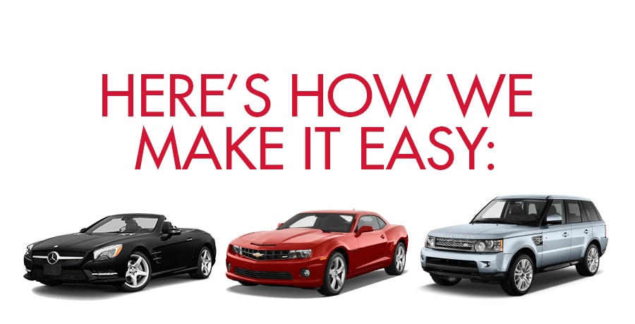 Here is how we make it easy. This it the top banner for the list of services Reagor Dykes Auto Group provides to make your car buying experience easy, quick smooth