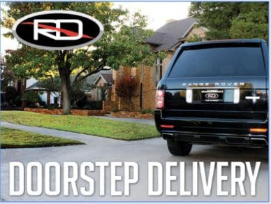 Doorstep delivery in Dallas with a Range Rover delivered at a customer's house
