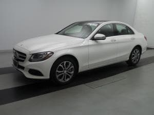 White 2016 Mercedes Benz C300 to lease in Dallas