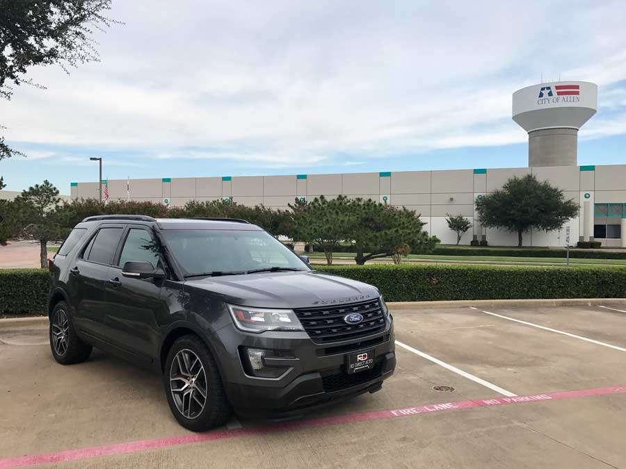 Image shows Ford Explorer in Allen, Texas and redirects to more information about our dealership, Reagor Dykes Directo Auto of Dallas serving the Allen region with doorstep delivery